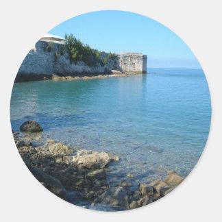 Fort St Catherine Bermuda Round Sticker