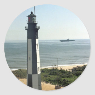 Fort Story Lighthouse Round Sticker