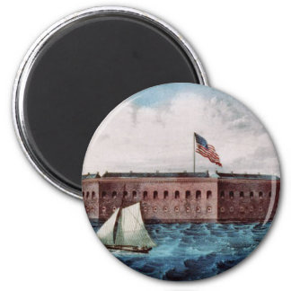 Fort Sumter 6 Cm Round Magnet