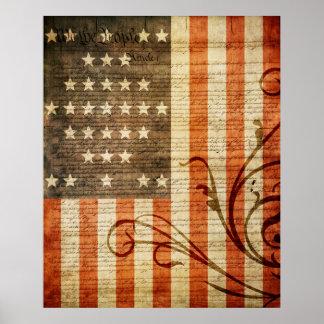 Fort Sumter Flag Vintage Poster