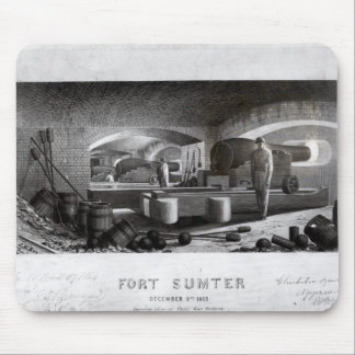 Fort Sumter, Interior View of Three Gun Battery Mouse Pad