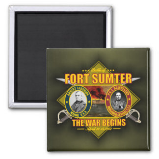 Fort Sumter Square Magnet