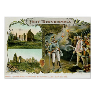 Fort Ticonderoga Ethan Allen NY 1907 Vintage Posters