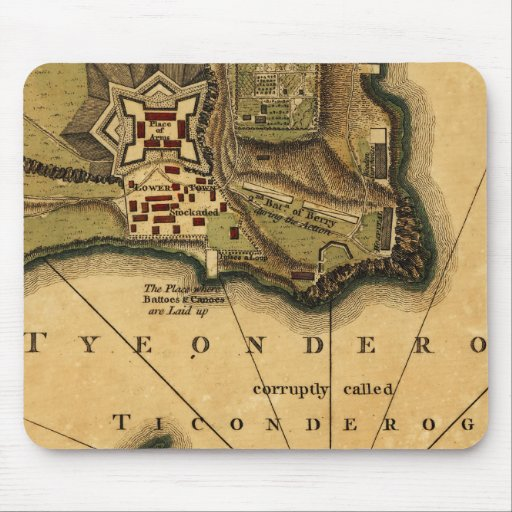 Fort Ticonderoga Map Mouse Pad