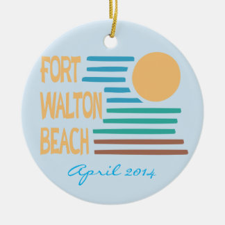 Fort Walton Beach custom date ornament