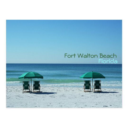 Fort Walton Beach Florida Chairs Postcard