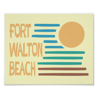 Fort Walton Beach geometric design Poster