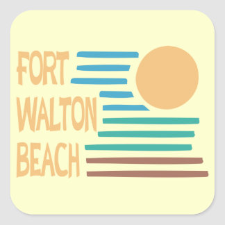 Fort Walton Beach geometric design Square Sticker