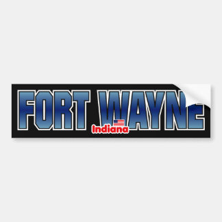 Fort Wayne Bumper Car Bumper Sticker