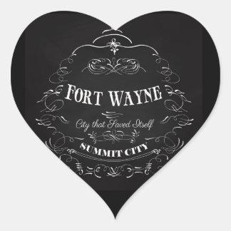 Fort Wayne - City that Save Itself Heart Sticker