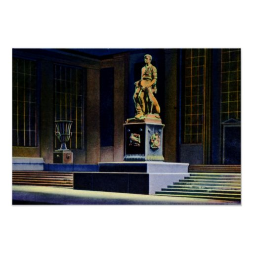 Fort Wayne Indiana Abe Lincoln Statue Poster