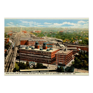 Fort Wayne, Indiana Electric Plant 1930 Poster