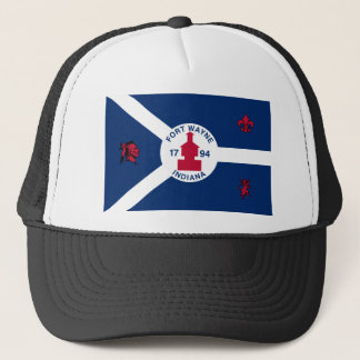 Fort Wayne, Indiana, United States flag Trucker Hat
