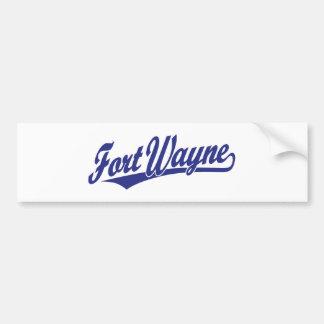 Fort Wayne script logo in blue Bumper Sticker