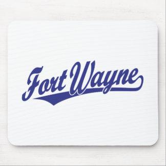 Fort Wayne script logo in blue Mousepad