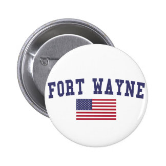 Fort Wayne US Flag 6 Cm Round Badge