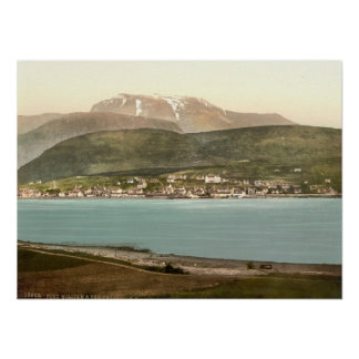 Fort William and Ben Nevis, Inverness, Scotland Poster