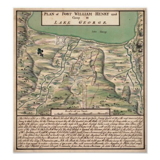 Fort William Henry. Print