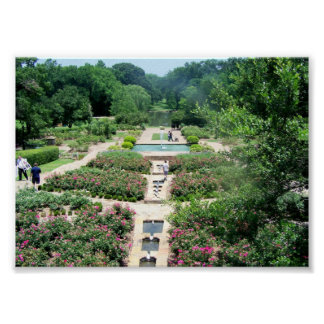 Fort Worth Botanical Gardens Poster