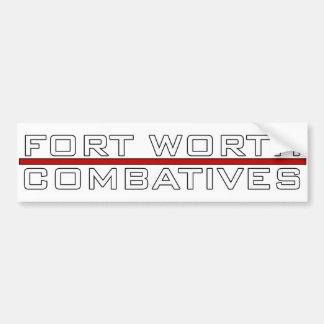 Fort Worth Combatives Redline Logo Car Bumper Sticker