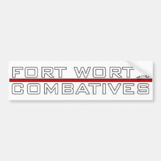 Fort Worth Combatives Redline Logo Bumper Sticker