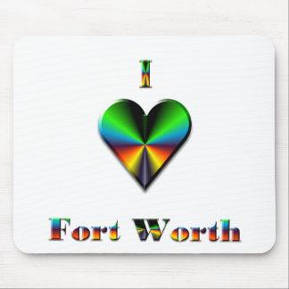 Fort Worth -- Green Blue & Orange Mouse Pads