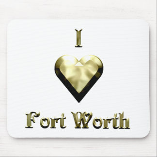 Fort Worth -- Shimmering Gold Mouse Pad