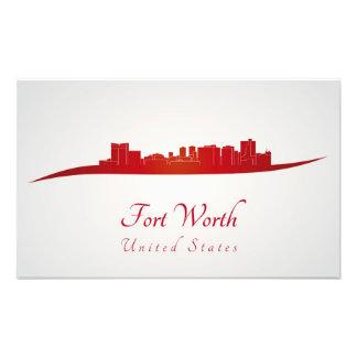 Fort Worth skyline in network Photo Art