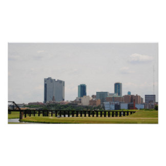 Fort Worth skyline Poster