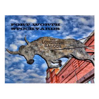 Fort Worth Stockyards: The Longhorn Saloon Postcard