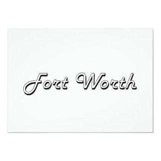 Fort Worth Texas Classic Retro Design 13 Cm X 18 Cm Invitation Card