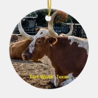 Fort Worth Texas Longhorns Christmas Ornament