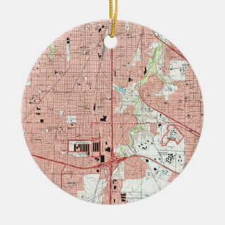 Fort Worth Texas Map (1995) Christmas Ornament