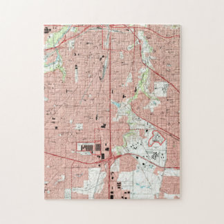 Fort Worth Texas Map (1995) Jigsaw Puzzle