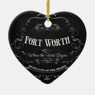 Fort Worth, Texas - Queen City of the Prairie Christmas Ornament