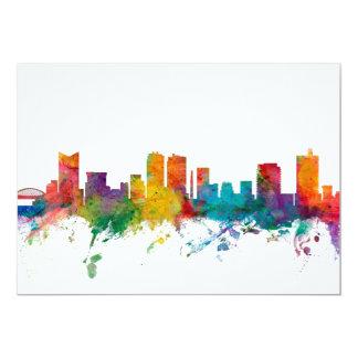 Fort Worth Texas Skyline 13 Cm X 18 Cm Invitation Card