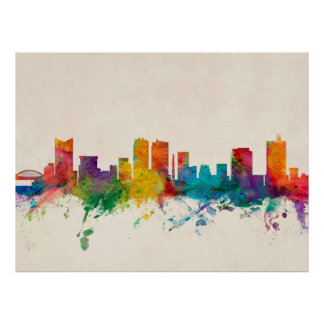 Fort Worth Texas Skyline Posters