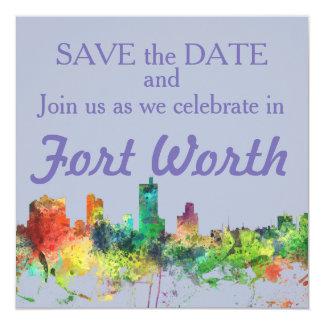 FORT WORTH, TEXAS SP - 13 CM X 13 CM SQUARE INVITATION CARD