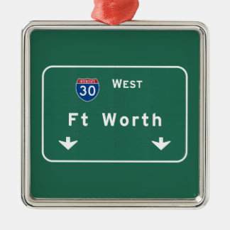 Fort Worth Texas tx Interstate Highway Freeway : Christmas Ornament