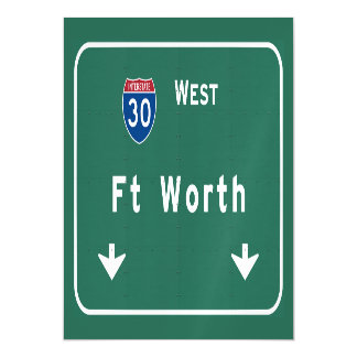 Fort Worth Texas tx Interstate Highway Freeway : Magnetic Invitations