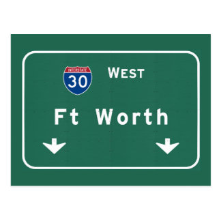 Fort Worth Texas tx Interstate Highway Freeway : Postcard