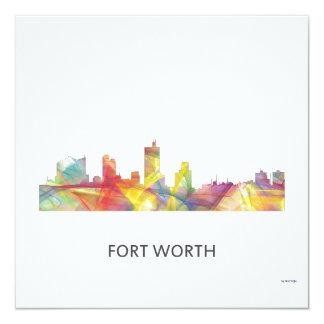 FORT WORTH, TEXAS WB1 - 13 CM X 13 CM SQUARE INVITATION CARD