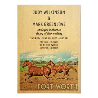 Fort Worth Texas Wedding Invitation Horses