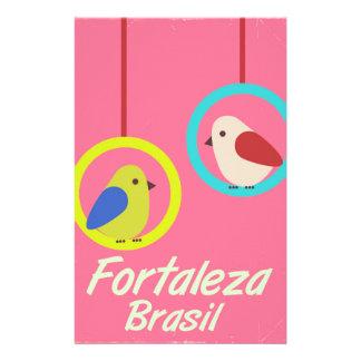 Fortaleza Brazil vintage travel poster Stationery