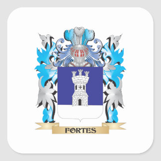 Fortes Coat of Arms - Family Crest Stickers