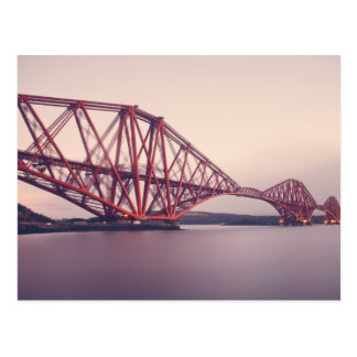 Forth Bridge at Dusk Postcard