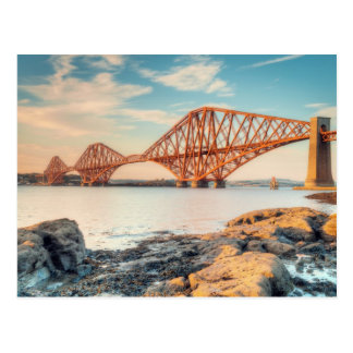 Forth Bridge at Sunset Postcard