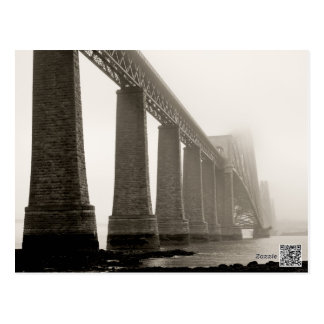 Forth Bridge Black and White Postcard