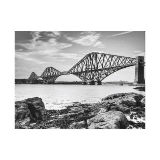 Forth Bridge from South Queensferry Canvas Print