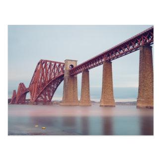 Forth Bridge in Scotland Postcard